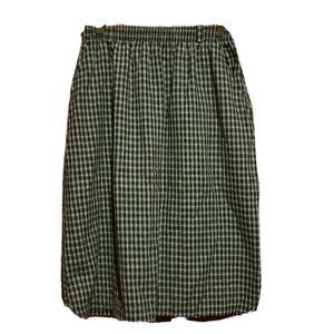 Vintage plaid midi skirt russ studio union made 10